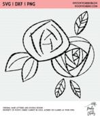 Doodle flowers cut file