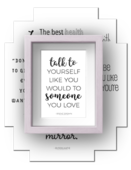 Self love care quotes frame s1