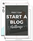 Start a blog challenge preview ipad