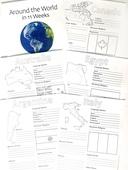 Portrait of around the world passport packet