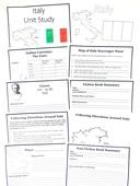 Italy free unit study portrait